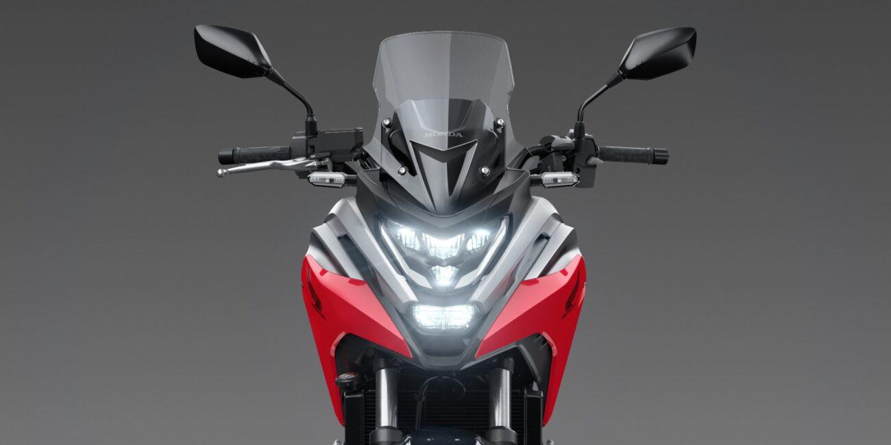 21YM_NC750X_Grand_Prix_Red_R-380_Headlight_On_High